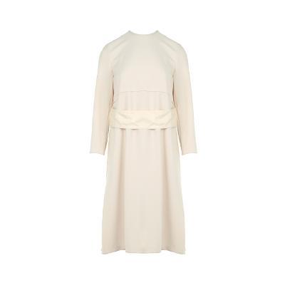 bended waist dress ivory